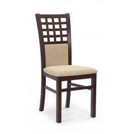 Jídelní židle - - Gerard 3 Ořech tmavý + béžová