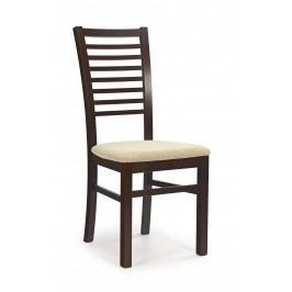 Jídelní židle - - Gerard 6 Ořech tmavý + béžová