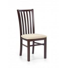 Jídelní židle - - Gerard 7 Ořech tmavý + béžová