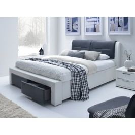 Manželská postel 160 cm - - Cassandra S (s roštem)