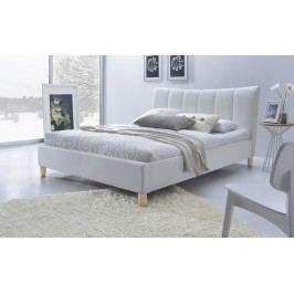 Manželská postel 160 cm - - Sandy (bílá) (s roštem)