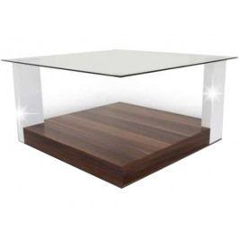Konferenční stolek - Emil - 201320P švestka + lesk bílý