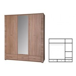 Šatní skříň - Grand - Typ 02 - 3D3S