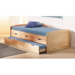 Rozkládací postel 90 cm - Marinella (s roštem) (masiv)