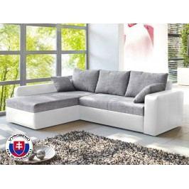Rohová sedací souprava - Viper bílá + šedá (L)