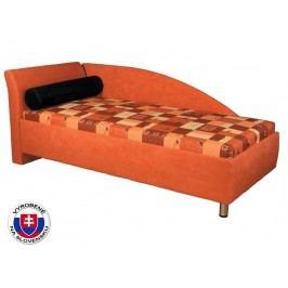 Jednolůžková postel (válenda) 90 cm - Mitru - Perla (s molitanovou matrací) (L)