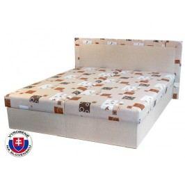 Manželská postel 160 cm - Mitru - Hedviga (s molitanovou matrací)