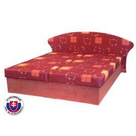 Manželská postel 160 cm - Mitru - Lukáš (s pružinovou matrací)