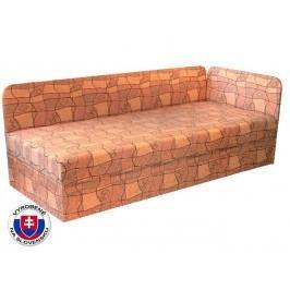 Jednolůžková postel (válenda) 80 cm - Mitru - Edo 4/1 (s pružinovou matrací) (P)