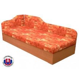 Jednolůžková postel (válenda) 80 cm - Mitru - Edo 4/2 (s molitanovou matrací) (L)