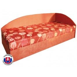 Jednolůžková postel (válenda) 80 cm - Mitru - Marta (se sendvičovou matrací) (P)