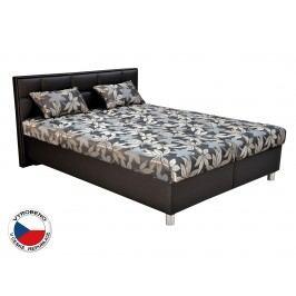 Manželská postel 180 cm - Blanář - Belfast (šedá + černá) (s rošty a matracemi)