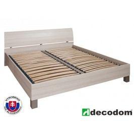 Manželská postel 180 cm - Decodom - Casandra jasan coimbra (s roštem a úl. prostorem)