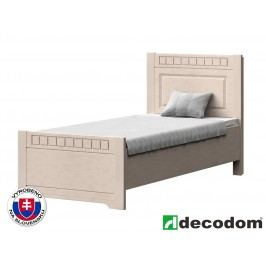 Jednolůžková postel 90 cm - Decodom - Lirot - Typ P-90 (vanilka patina)