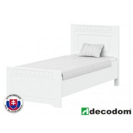 Jednolůžková postel 90 cm - Decodom - Lirot - Typ P-90 (bíla arctic)