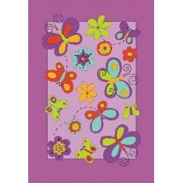 Ručně všívaný koberec (tuftovaný) - Bakero - Kids Butterfly Lila