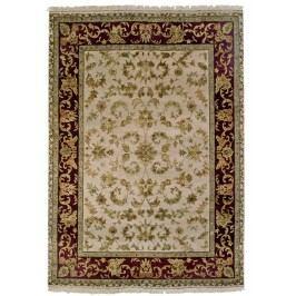 Ručně vázaný koberec - Bakero - Jaipur prírodný hodváb Ag-27 Ivory-Red