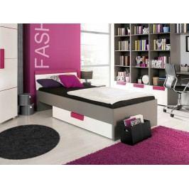 Jednolůžková postel 90 cm - Lobete - Typ 09 - LBLL09