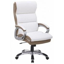 Kancelářské křeslo - Kolo bílá + hnědá