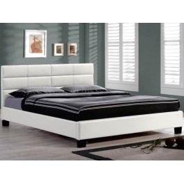 Manželská postel 160 cm - Mikel bílá (s roštem)