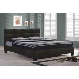 Manželská postel 160 cm - Mikel černá (s roštem)
