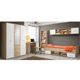Jednolůžková postel 90 cm - Emio - Typ 04 - Bílá
