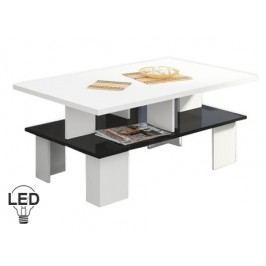 Konferenční stolek - WIP - Supra 2 (bílá + lesk černý)