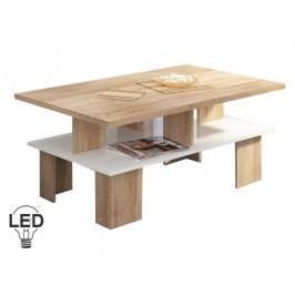Konferenční stolek - WIP - Supra 2 (sonoma světlá + lesk bílý)