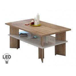 Konferenční stolek - WIP - Vectra 2 (sonoma světlá + lesk bílý)