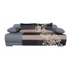 Pohovka - WIP-GK - Zico šedá + béžové květy