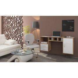 PC stolek - WIP - Hanger dub sonoma světlý + lesk bílý