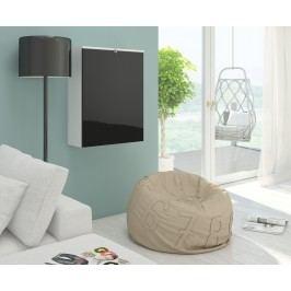 PC stolek - WIP - Hide bílá + lesk černý