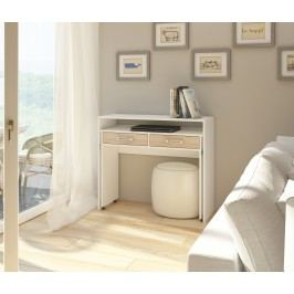 PC stolek - WIP - Zoom bílá + dub sonoma světlý