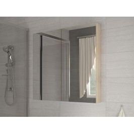 Koupelnová skříňka na stěnu - WIP - Della 60 dub sonoma světlý + zrcadlo