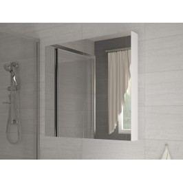 Koupelnová skříňka na stěnu - WIP - Della 80 bílá + zrcadlo