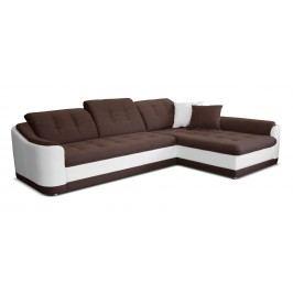 Rohová sedací souprava - Po-Sed - Bray L 2+L (hnědá + bílá) (P)