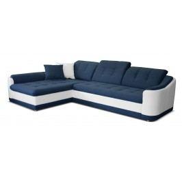 Rohová sedací souprava - Po-Sed - Bray L L+2 (modrá + bílá) (L)