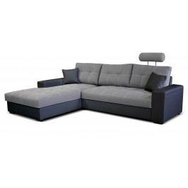 Rohová sedací souprava - Po-Sed - Corato L+2F (šedá + černá) (L)