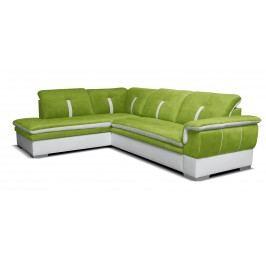 Rohová sedací souprava - Po-Sed - Galaxy L+2F (zelená + bílá) (L)