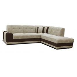 Rohová sedací souprava - Po-Sed - Bella Lux 2F+L (béžová + hnědá) (P)