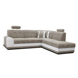 Rohová sedací souprava - Po-Sed - Bella II 2F+L (béžová + bílá) (P)