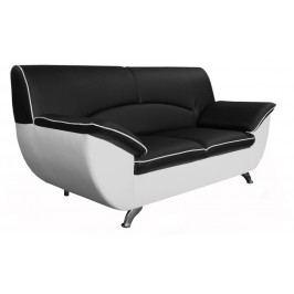 Pohovka dvojsed - Po-Sed - Rivera (černá + bílá) (169 cm)