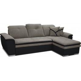 Rohová sedací souprava - Po-Sed - Estevan 2F+L (šedá + černá) (P)