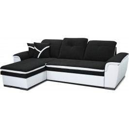 Rohová sedací souprava - Po-Sed - Estevan L+2F (černá + bílá) (L)