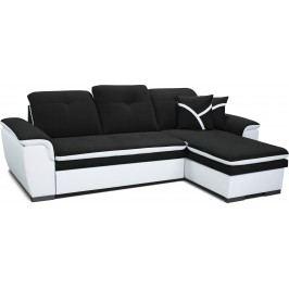 Rohová sedací souprava - Po-Sed - Estevan 2F+L (černá + bílá) (P)