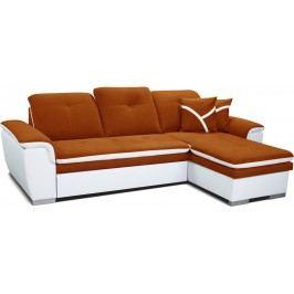 Rohová sedací souprava - Po-Sed - Estevan 2F+L (oranžová + bílá) (P)
