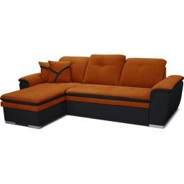Rohová sedací souprava - Po-Sed - Estevan L+2F (oranžová + černá) (L)