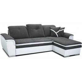 Rohová sedací souprava - Po-Sed - Estevan 2F+L (šedá + bílá) (P)