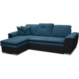 Rohová sedací souprava - Po-Sed - Estevan L+2F (tyrkysová + černá) (L)