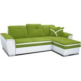Rohová sedací souprava - Po-Sed - Estevan 2F+L (zelená + bílá) (P)